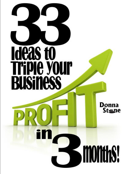 33 ideas to triple your profits by Donna Stone Business Coach