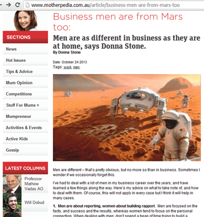 Donna Stone Business Consultant Businessmen from Mars