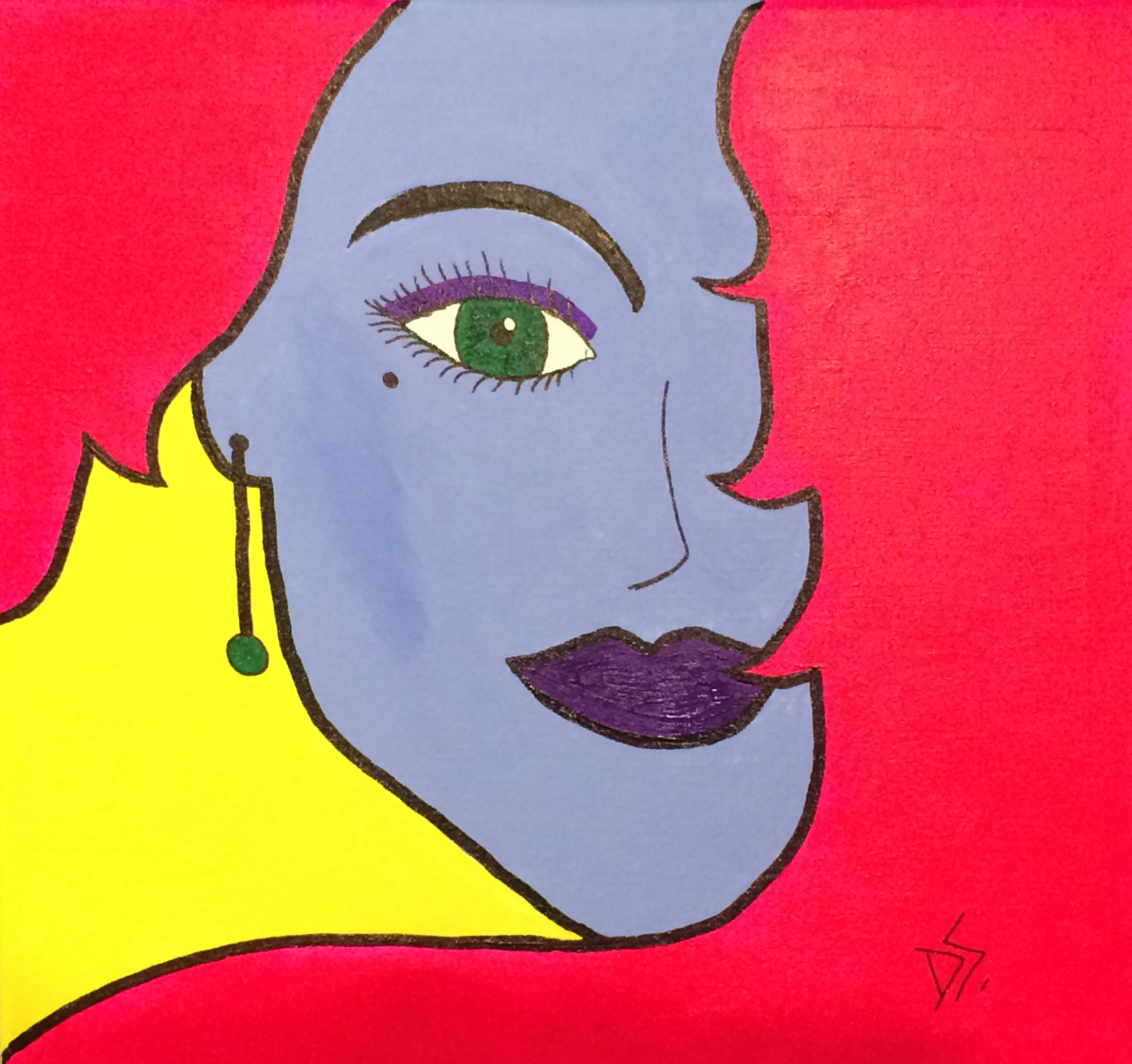 Visual Arts Pop Girl Donna Stone