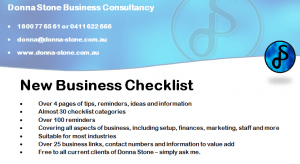 Donna Stone Business Coaching New Business Checklist