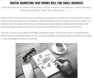 Digital marketing small business